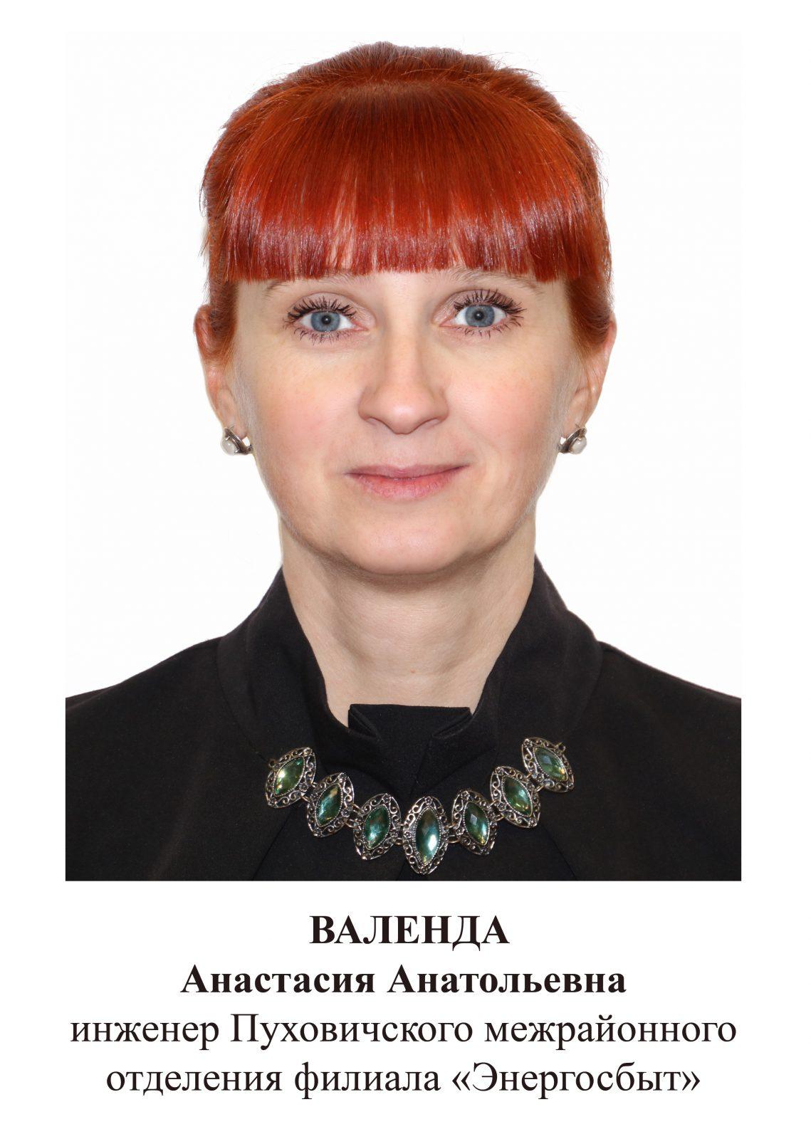 Валенда Анастасия Анатольевна